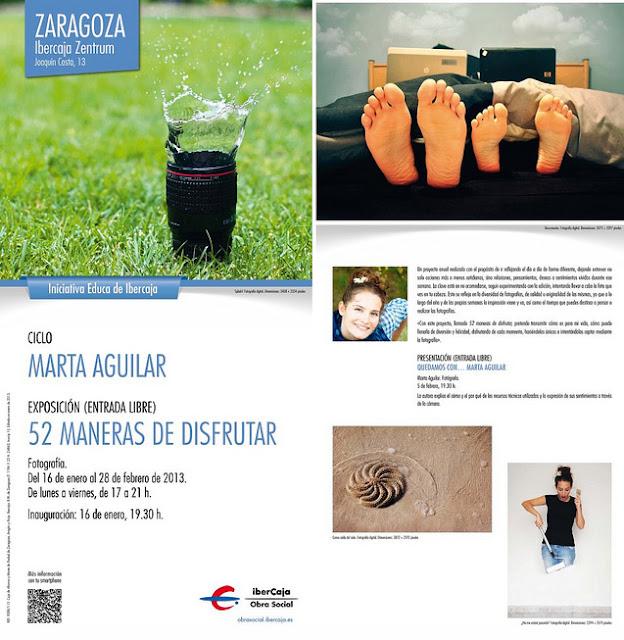 Cartel con algunas fotos de la exposición