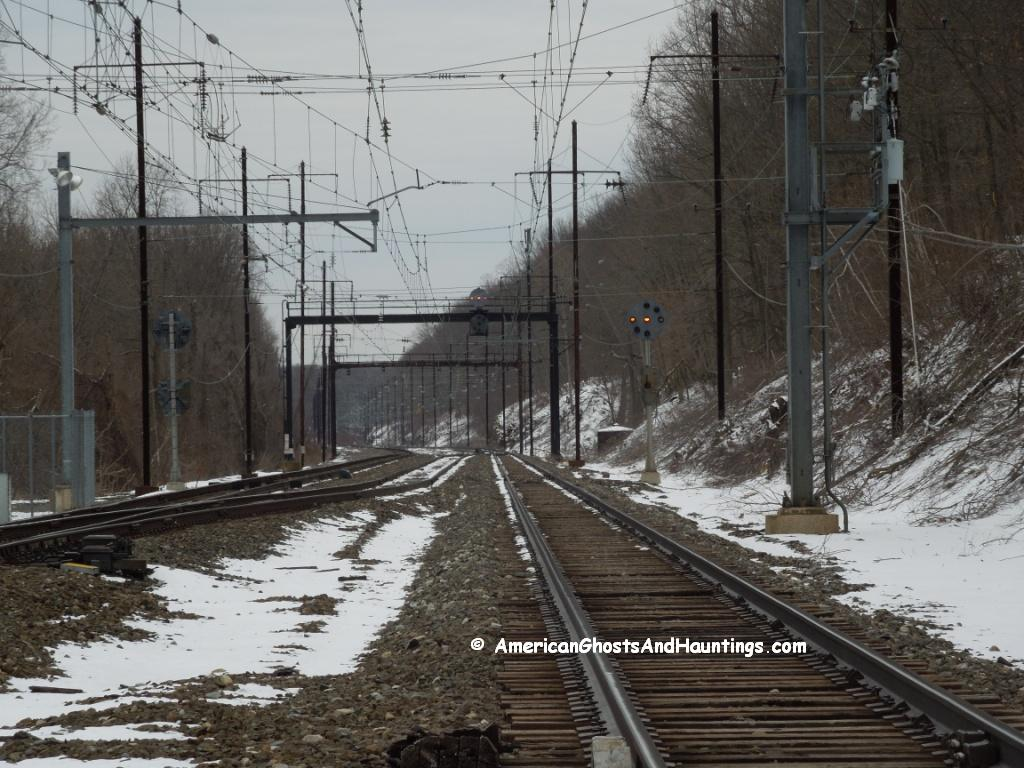 "The modern day ""Duffy's Cut"".  A portion of the rail line near Philadelphia, PA passing through Malvern where 57 Irish rail workers died suddenly in 1832."