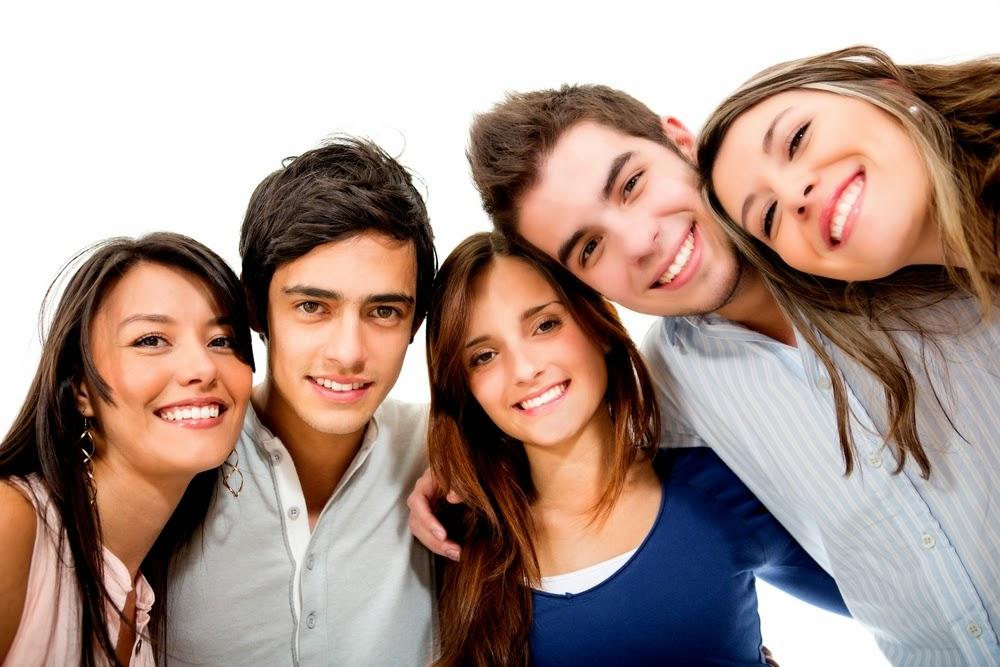 De adolescentes pasando