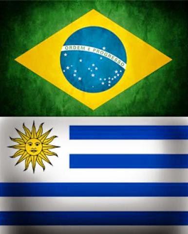 Brazil, Uruguay, Brasil, Uruguai, Flags, Bandeiras