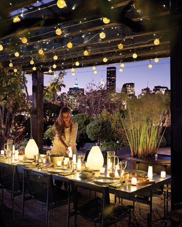 Lynn morris interiors stay outdoors longer with these for Terrace lighting