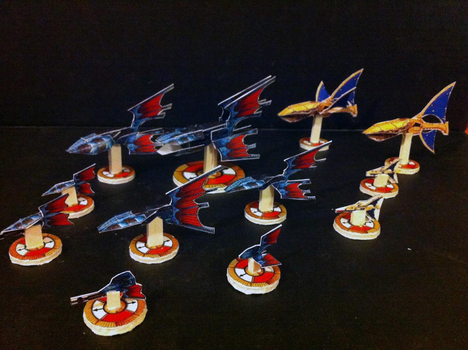 Battlefleet Gothic Papier Pour les débutants et les Nouveaux Joueurs Eldar+fleet