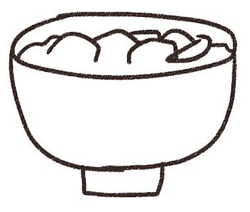 お雑煮のイラスト 線画