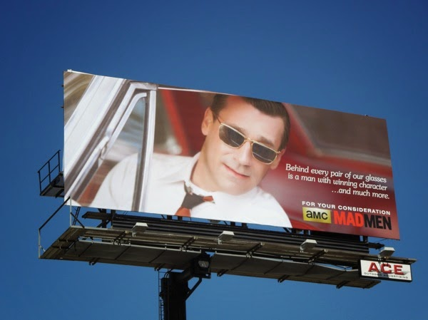 Don Draper sunglasses Mad Men vintage Emmy billboard 2014