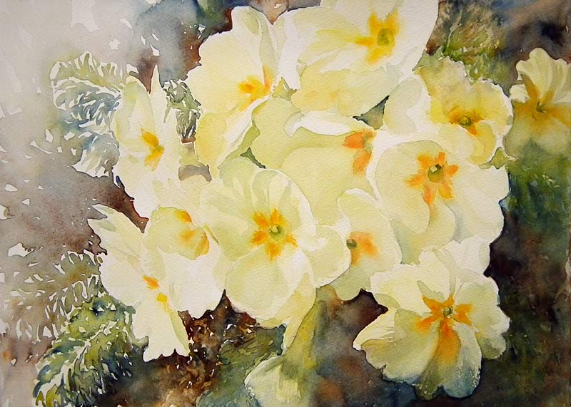 A passion for watercolour more spring flowers for Spring flowers watercolor