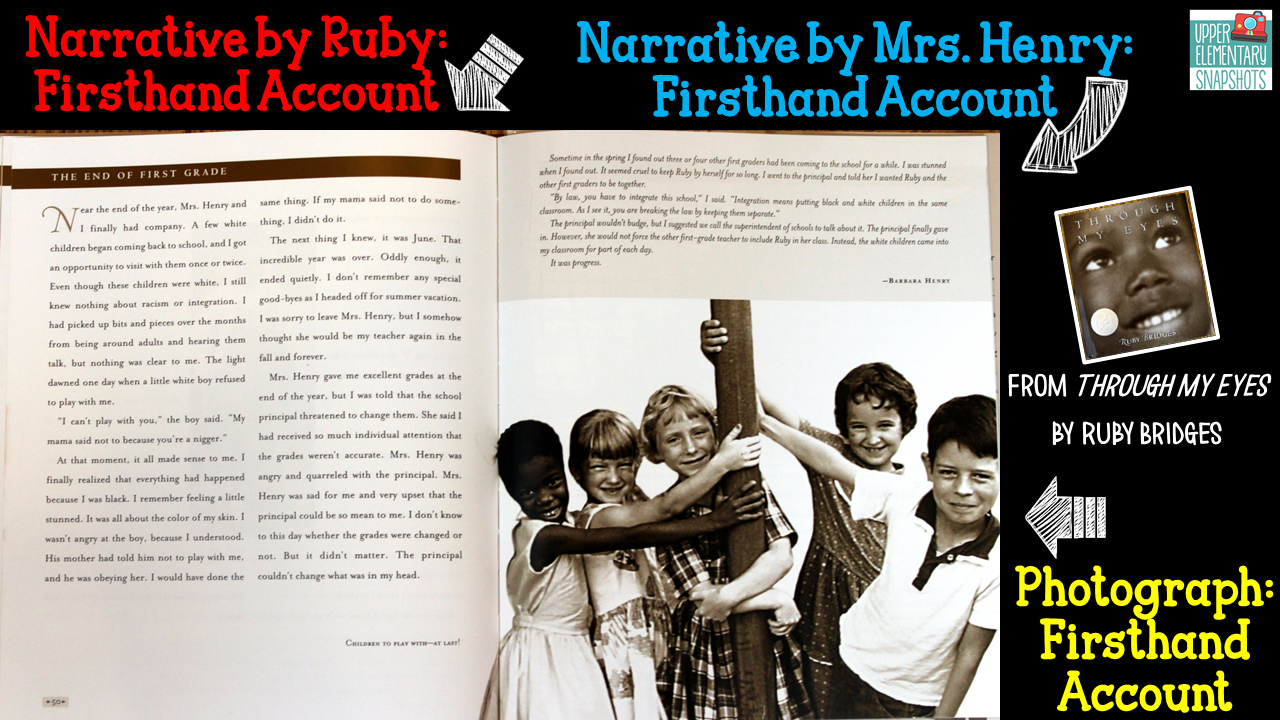 Upper Elementary Snapshots: Firsthand and Secondhand Accounts ...