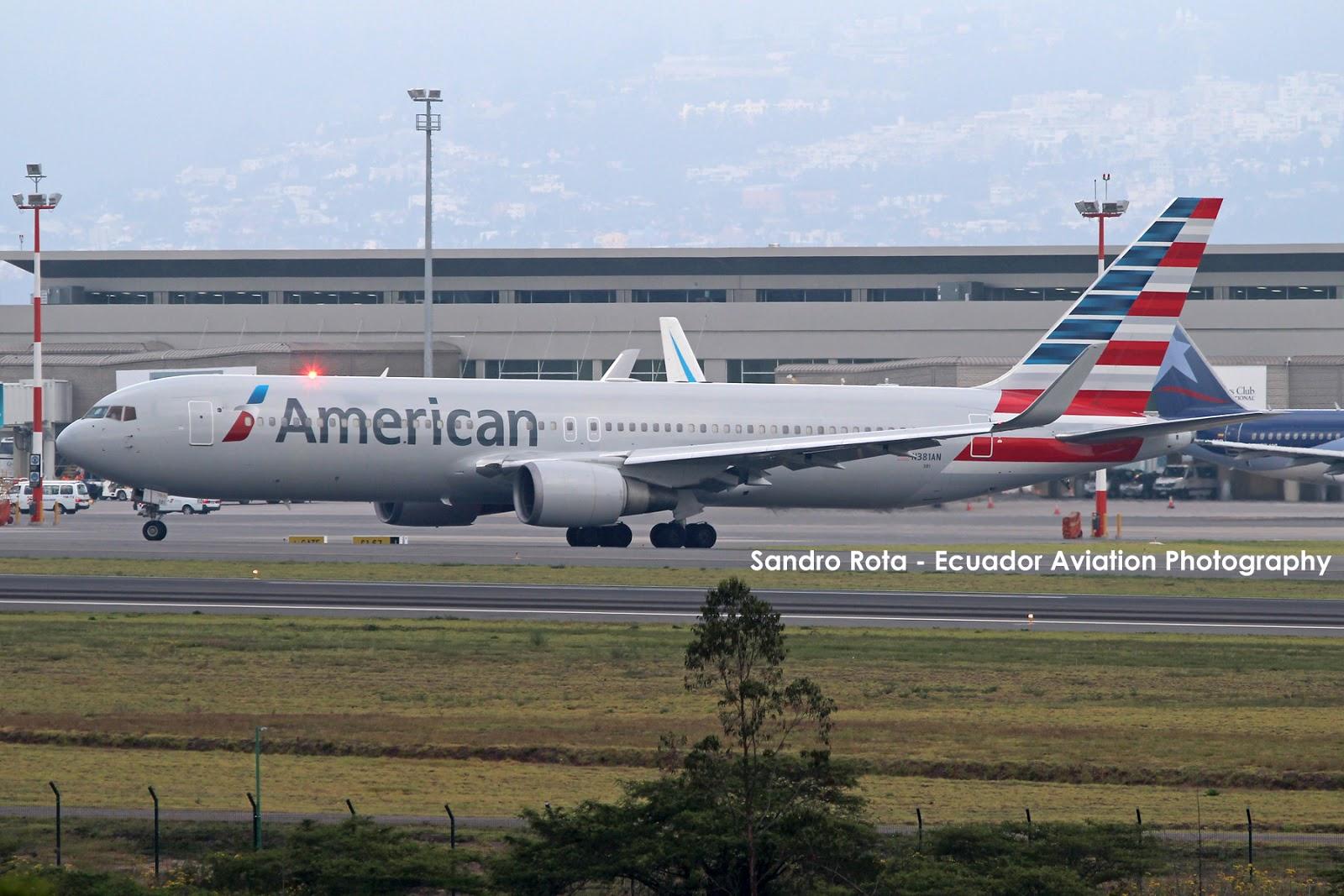 Ecuador Aviation Photography American Airlines Con 767 A