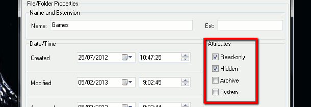 single file/folder