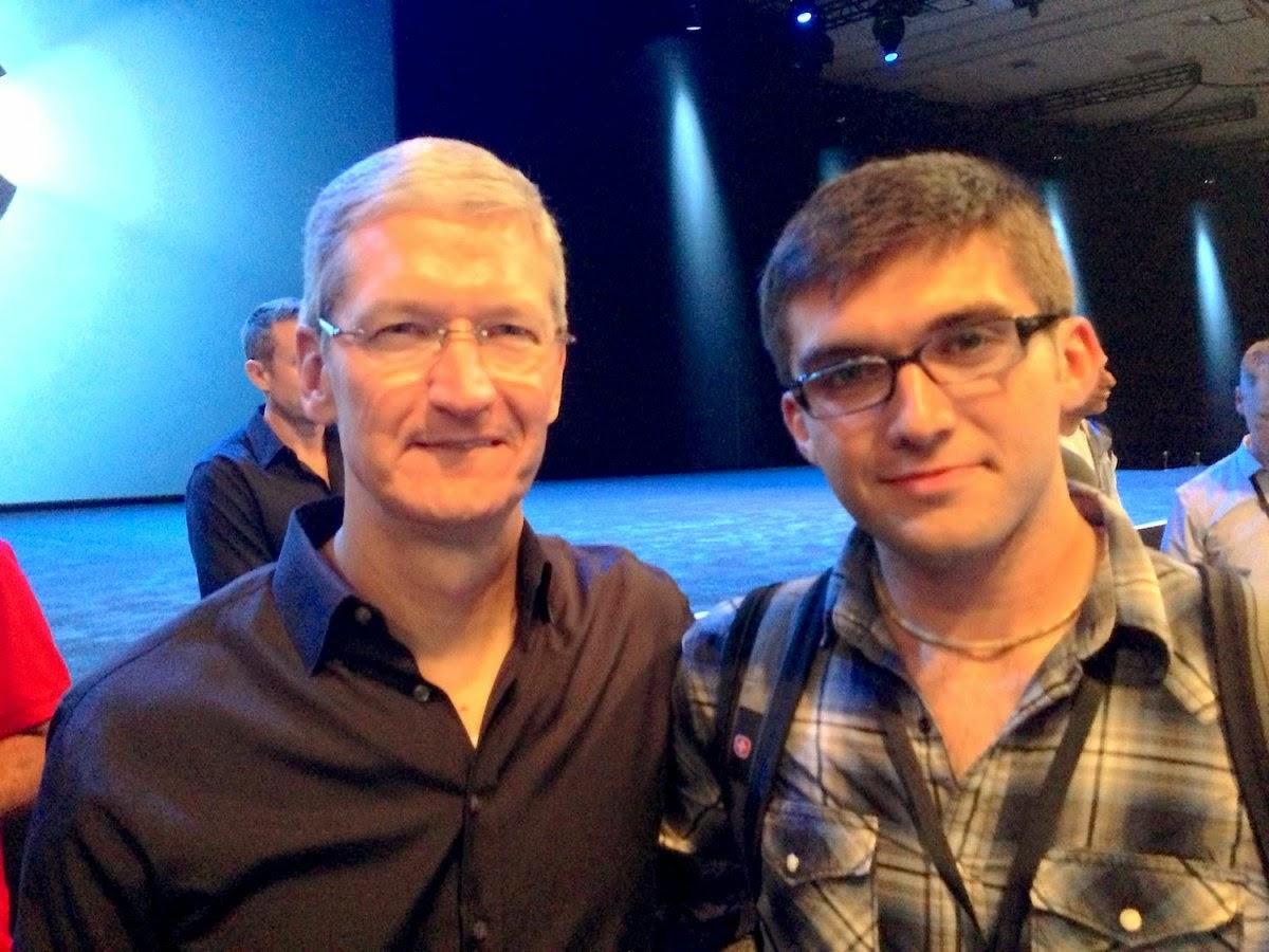 John Meyer with Apple CEO