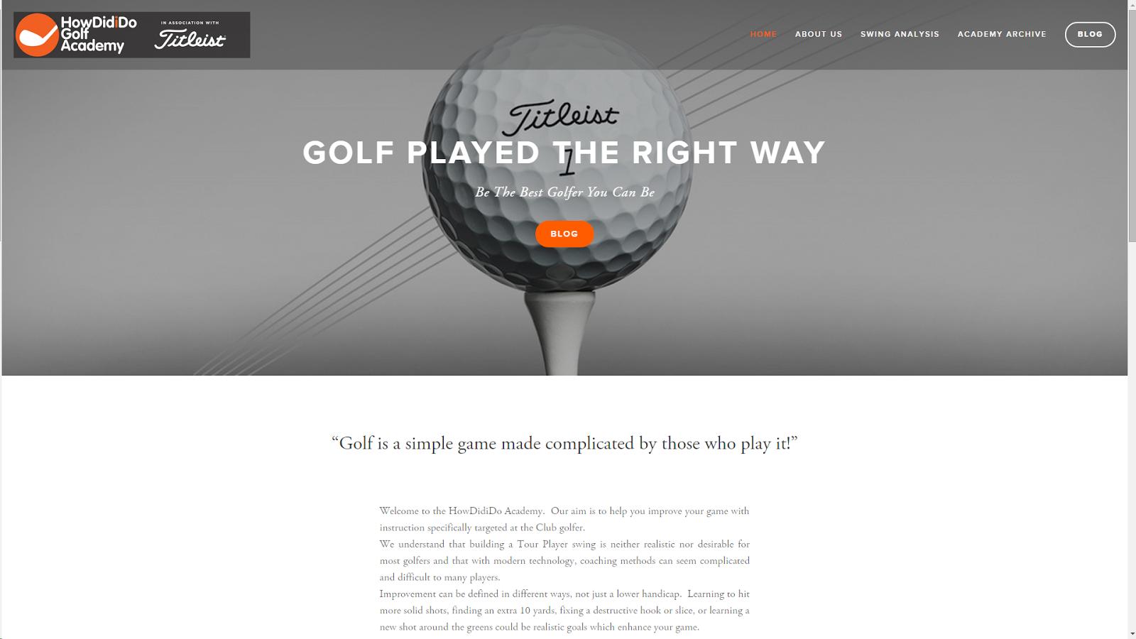 HowDidiDo Golf Academy