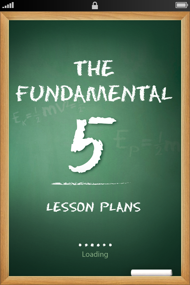 ... soon to the Apple App Store: The Fundamental 5 Lesson Plan Template
