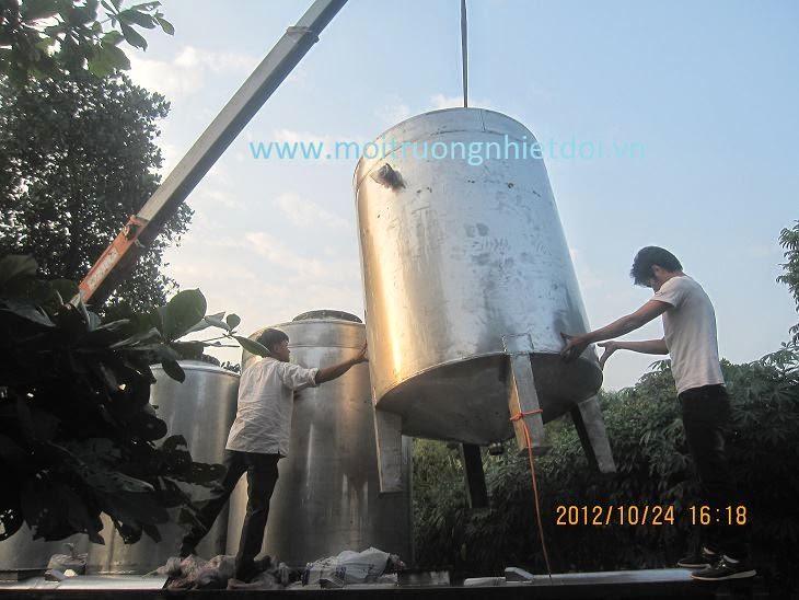 Bình lọc áp nước áp lực xử lý sắt, mangan