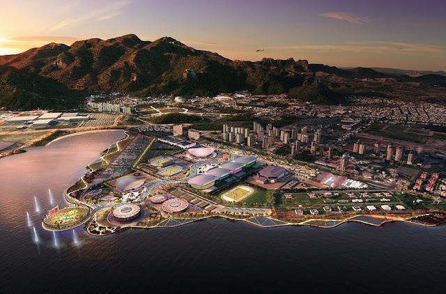 Rio Olympic Park 2016 Olympics Brazil Plan Graphic