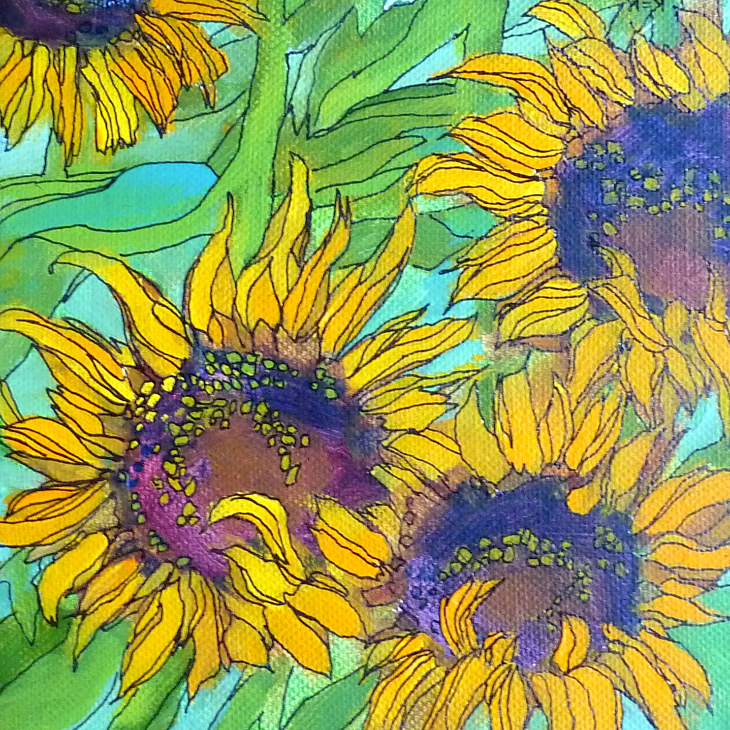 Painting My World: More Sunflower Paintings!