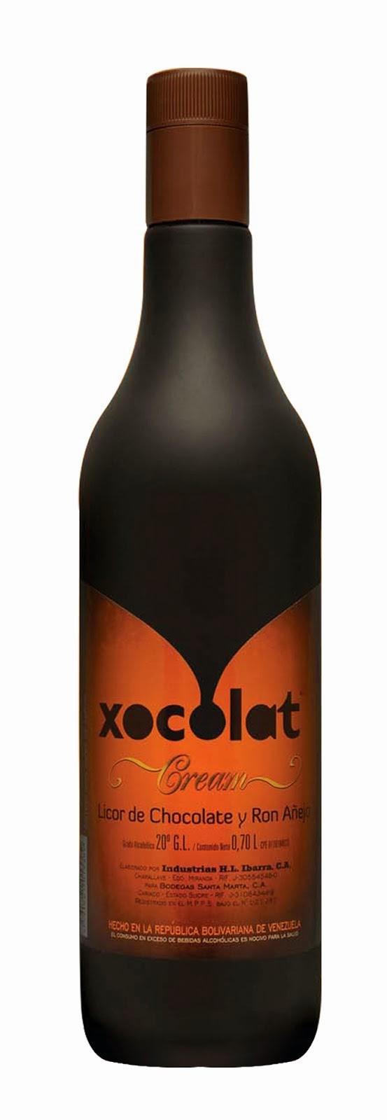 Xocolat:  Una crema de ron añejo y chocolate venezolano