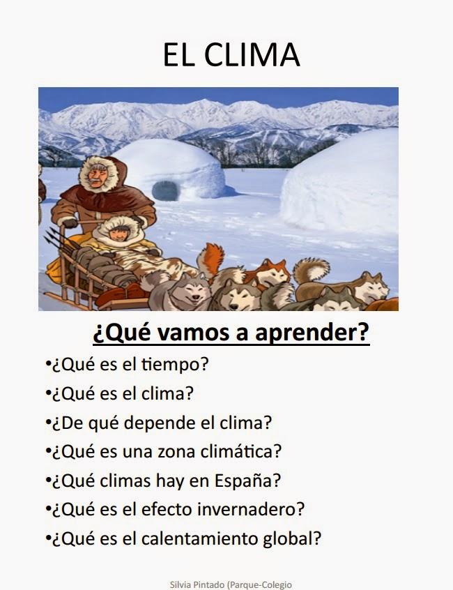 EL CLIMA,  ADAPTACIÓN 5º- 6º PRIMARIA