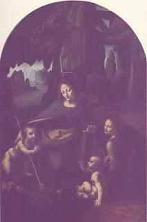 The Virgin of the Rocks - Painting by Leonardo da Vinci