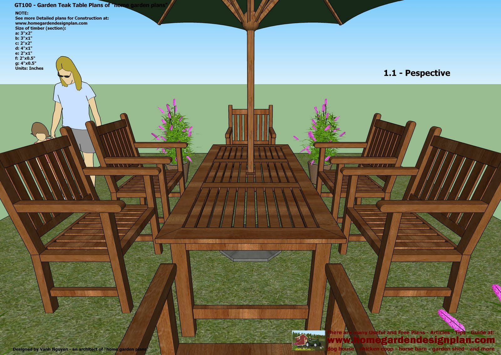 Outdoor Garden Table Plans