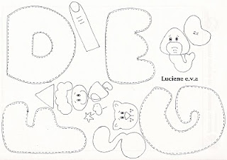 alfabeto ilustrado 2 molde