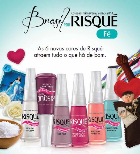 Coleção Brasil por Risqué Fé da Risqué