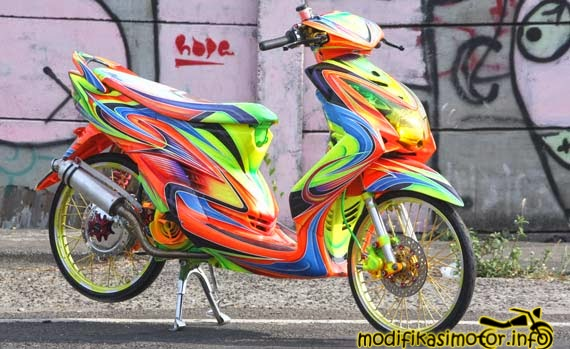 modifikasi mio soul gt airbrush