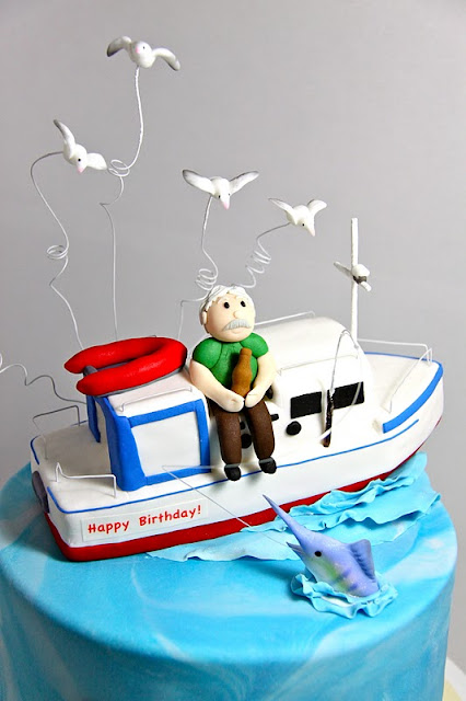 Fishing Boat Birthday Cake Ideas and Designs