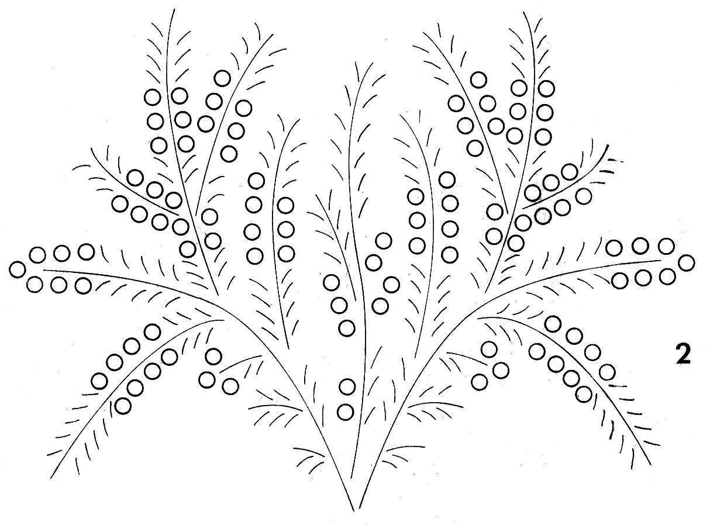 manualidades varias: Molde de Flores Para Bordar