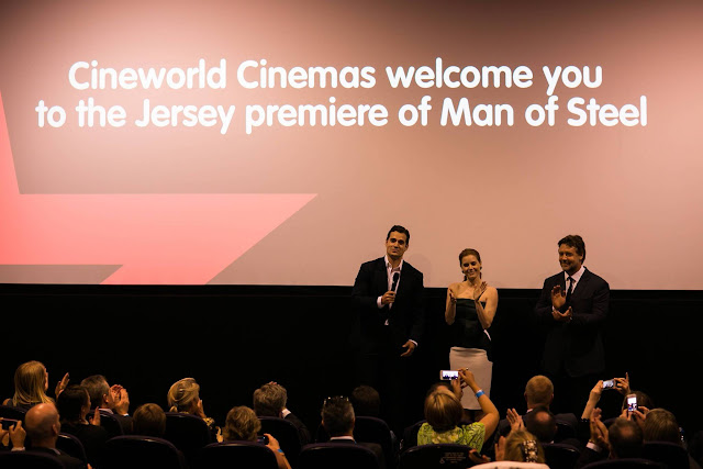 Man of Steel Jersey premiere Henry Cavill, Amy Adams & Russell Crowe introduce Man of Steel
