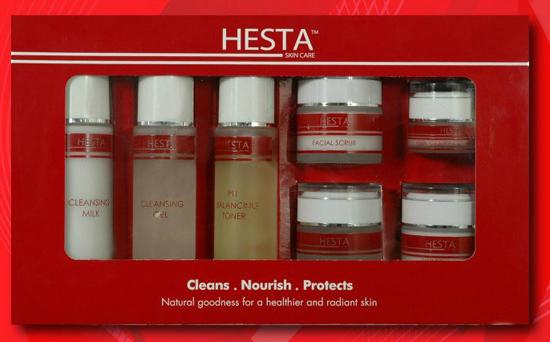 Produk penjagaan kulit wajah hesta