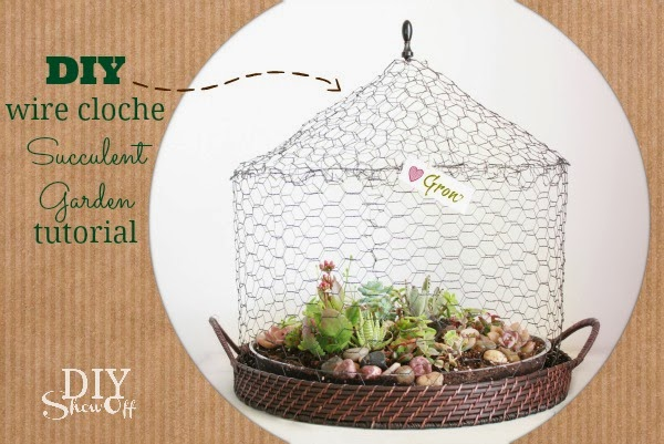 Craft tutorials galore at crafter holic chicken wire cloche for Chicken wire craft ideas