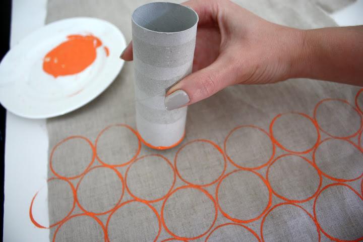 Штамп по ткани своими руками