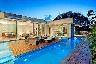 Rumah Minimalis Modern Dengan Kolam Renang