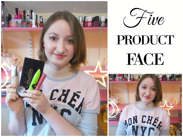 Five product face makeup challenge!