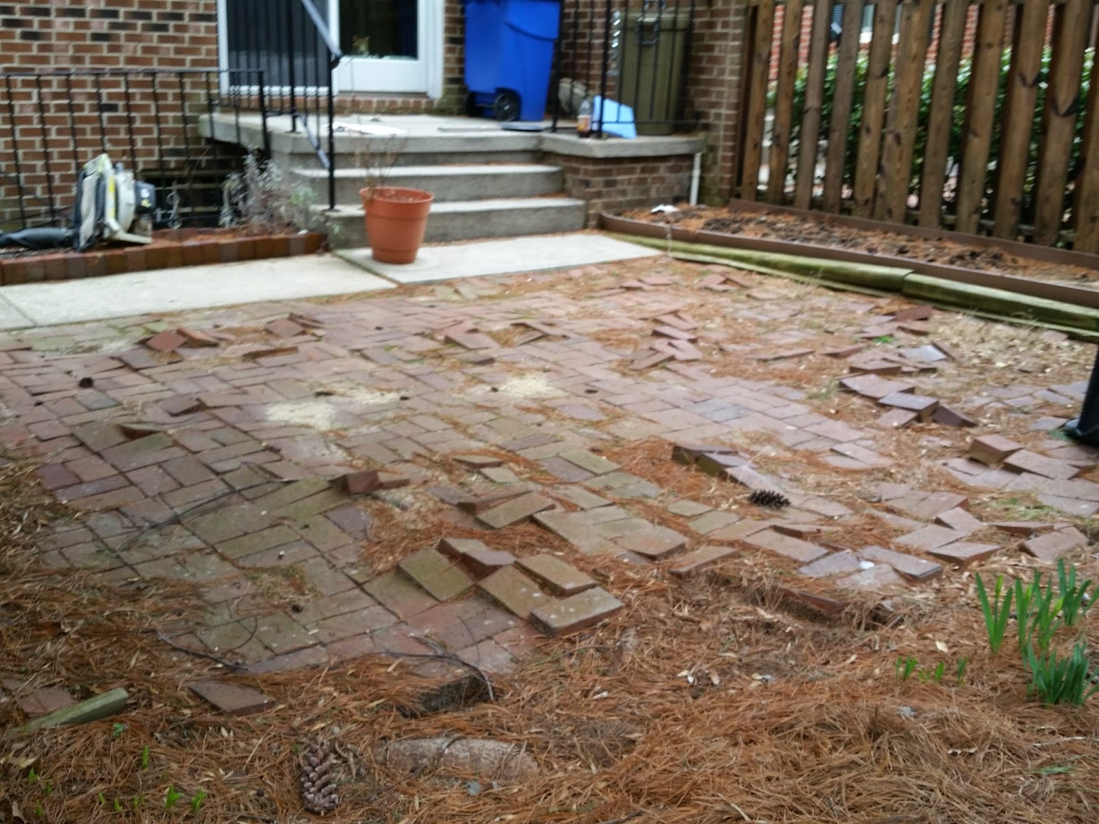 Custom Stoneworks & Design Inc Brick Patio do over in Baltimore