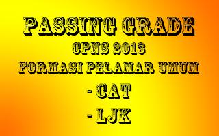 Passing Grade CPNS Pelamar UMUM LJK dan CAT Tahun 2013