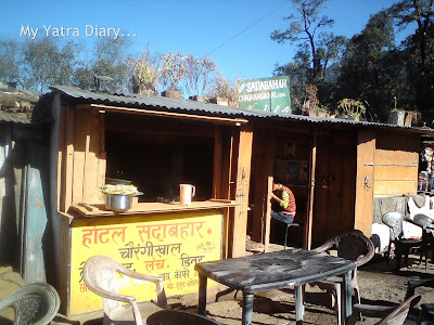 A dhaba in Chaurangikhal town enroute to Gangotri