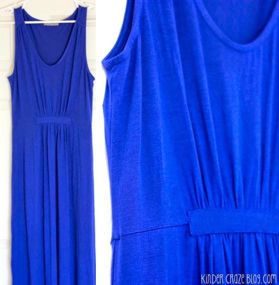 gorgeous blue maxi dress with a gathered waist #StitchFix