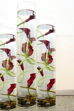 Modern Calla Lily Centerpieces - Sonal J. Shah Event Consultants, LLC.