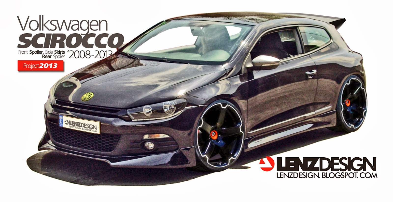 vw scirocco body kit lenzdesign performance tuning project. Black Bedroom Furniture Sets. Home Design Ideas