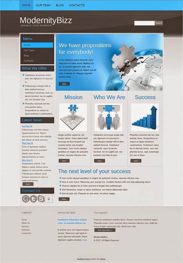 Modernity Bizz - Free Wordpress Theme