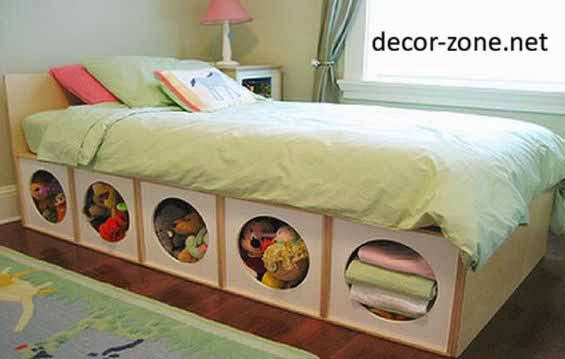 area under the bed, bedroom storage ideas