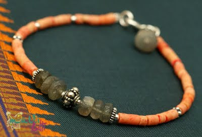 etniczna bransoletka z korala