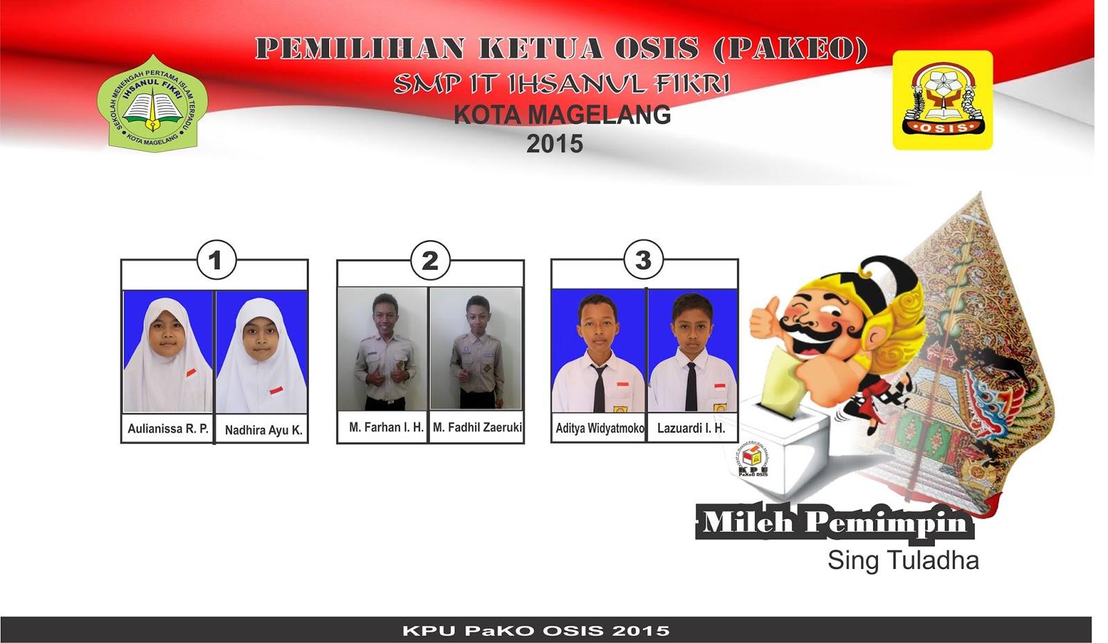 Hasil Pemilihan Ketua Dan Wakil Ketua Osis Smp It Ihsanul