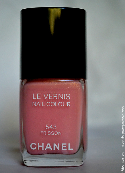 roses ultimes de chanel makeup collection spring 2012 nail polish le vernis frisson 543 pink peach reviews swatches blog beauty notd
