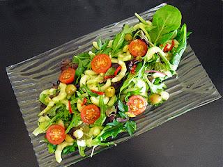 Salade verte sauce au citron confit