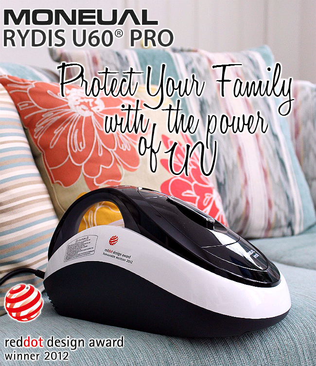Moneual Rydis U60 Pro Handheld Vacuum- 2012 Red Dot Design Award Winner, features UV-C light sanitization, powerful 3600 RPM vibration, no stick suction, motion sensor, and optional lavender air freshener.
