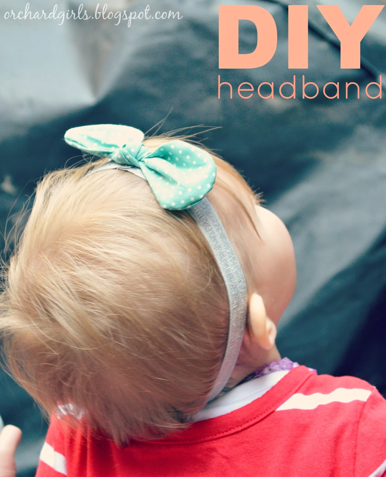 DIY Fabric Bows and headbands by Orchard Girls