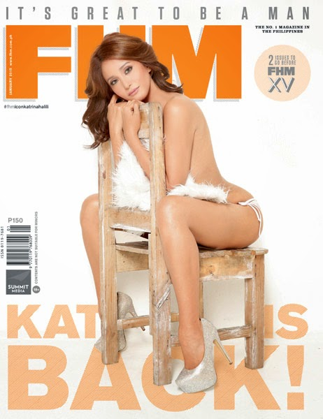 Katrina Halili returns on the cover of FHM January 2015 issue