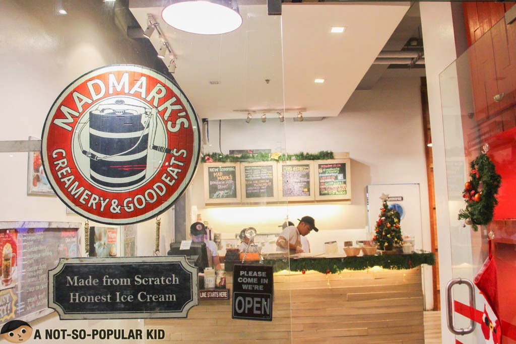 Mad Mark's Creamery and Good Eats in 2/F of Glorietta 5, Makati