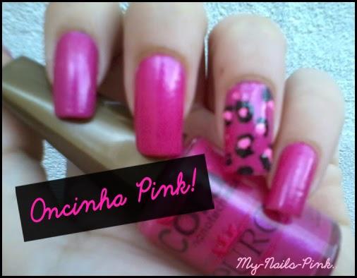 unhas Oncinha Pink